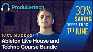 30 OFF Paul Maddox - Ableton Live House Techno Course Bundle