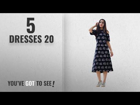 Top 10 Dresses 20 [2018]: Royal Export Women's Black Printed Cotton Dress