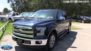 2016 Ford F150 Lariat | Crew Cab - Beautiful Blue with Leather | Luxury Truck For Sale 8/16/17