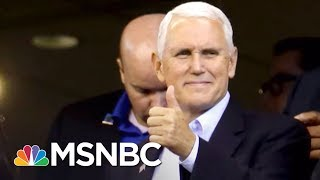 'This Was A Stunt': Vice President Mike Pence Leaves NFL Game | Morning Joe | MSNBC