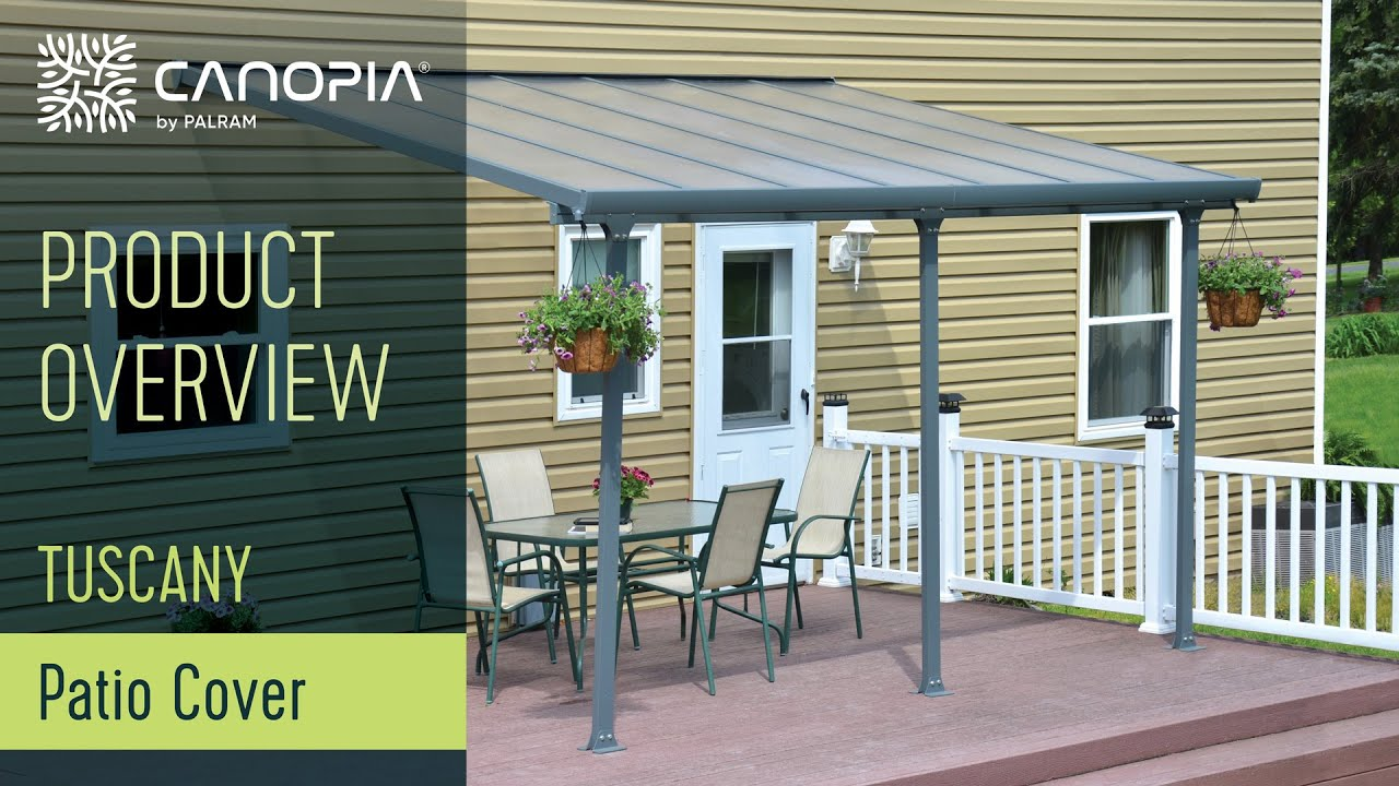 Palram Tuscany Patio Cover Pergola Awning Youtube