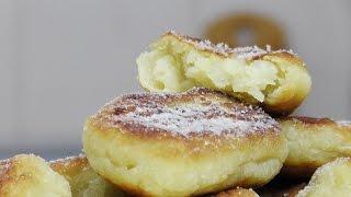 Пончики из картофеля с яблоком видео рецепт