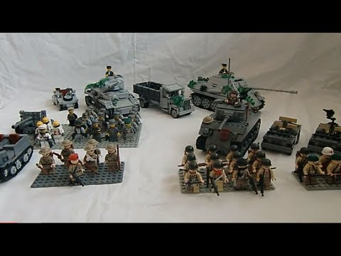 how to make lego ww2 bunkers