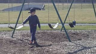 American Boy Playing In Park