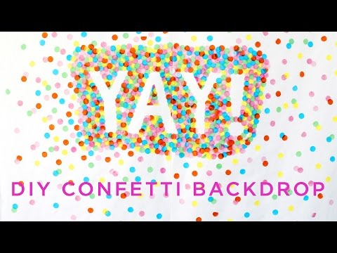 DIY Fun Confetti Photography Backdrop