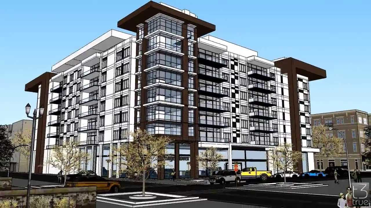 Modern condominium design concept made in sketchup youtube for Condominium decoration