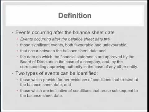 CA IPCC - Advanced Accounting - AS 4: Contingencies and Events Occurring After the B/S Date