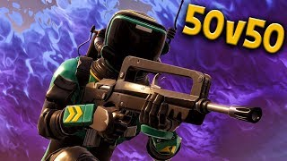 ACTION-PACKED 50 vs 50 WAR FROM LIVE STREAM w/FRIENDS & SUBS! Fortnite Battle Royale Gameplay Ep. 20