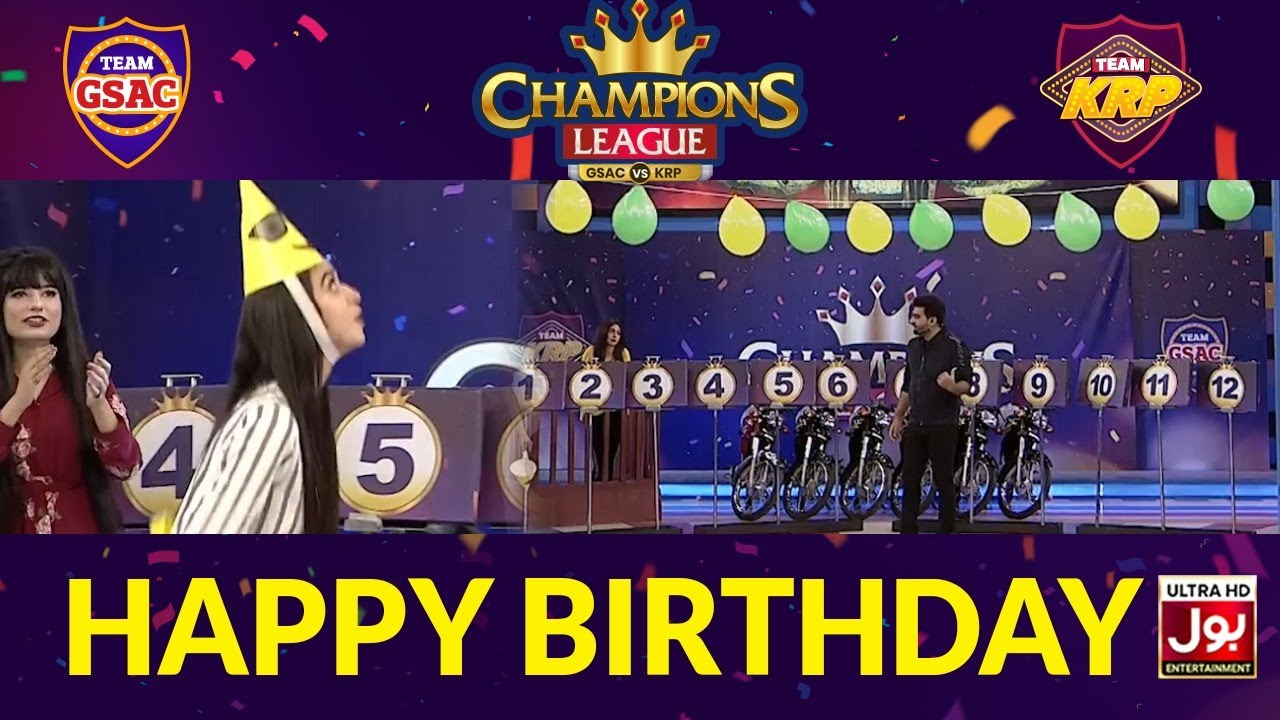 Happy Birthday | Champions League | Game Show Aisay Chalay Ga vs Khush Raho Pakistan