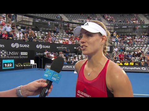 Angelique Kerber On Court Interview (QF)   Sydney International 2018