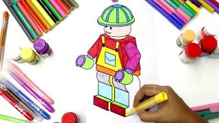How To Draw A Robot For Kids | Coloring Pages Videos | Learn Colors Art For Children