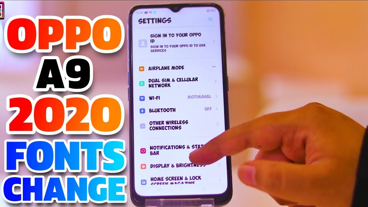 Pop Up Ads On Android Home Screen 2020.Oppo A9 2020 Fonts Change Change Fonts In Oppo A9 2020