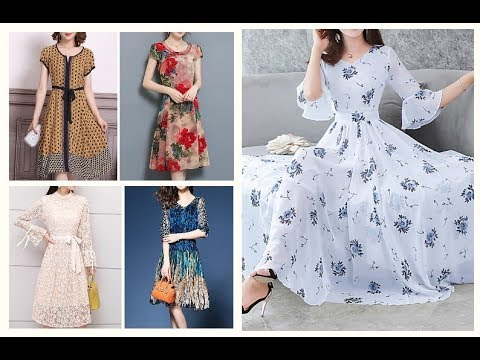 Spring Summer Casual Frock Designs 2019-20=Fall Colour Combination Dresses IDEAS 1
