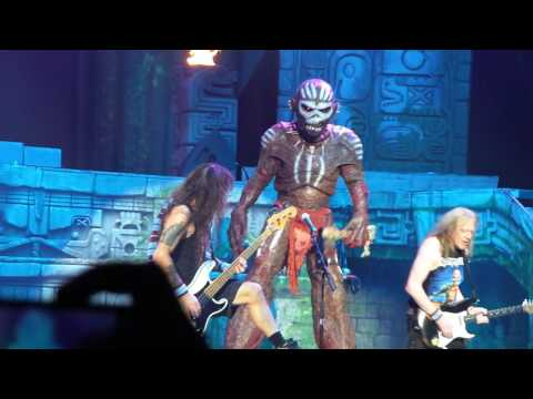 Iron Maiden at American Airlines Center Dallas Texas 6/23/17 Book of Souls Eddie entrance