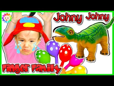 Thumbnail: NEW Real BABY Crying LEARN with Balloons, JOHNY JOHNY Yes Papa SONGS & Finger Family Song fro Babies