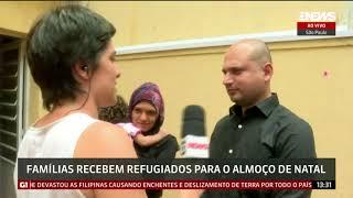 1280x720 Famílias recebem refugiados para almoço de Natal, em São Paulo   GloboNews – Jornal GloboNe