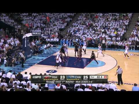 Miami Heat vs Charlotte Bobcats Game 3   April 26, 2014   NBA Playoffs 2014