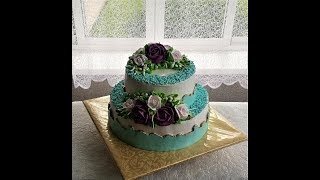 Украшение двухъярусного торта