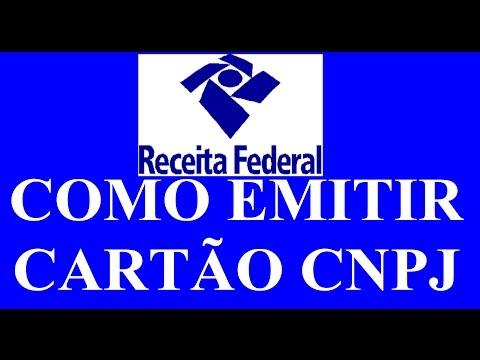 MEI - Emitir Cartão CNPJ (comprovante de inscrição CNPJ)