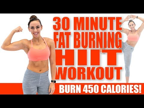 30 Minute FAT-BURNING HIIT WORKOUT! ��Burn 450 Calories ��Sydney Cummings