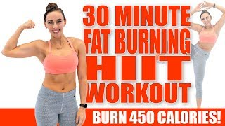 30 Minute FAT-BURNING HIIT WORKOUT! 🔥Burn 450 Calories 🔥Sydney Cummings