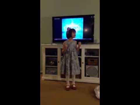 Lucie sings Let it Go