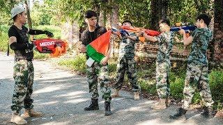 Hihahe Nerf War: SWAT & Couple Infantryman Nerf Guns Thief Car Nerf Movies