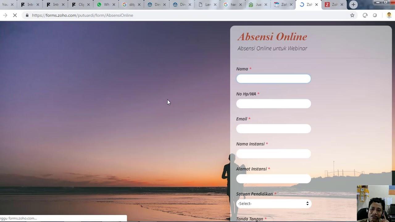 absensi online dengan tanda tangan menggunakan zoho form