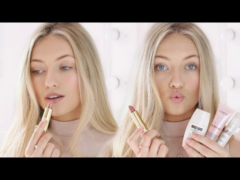 SPRING FULL FACE OF DRUGSTORE FAVOURITES | SIGN LANGUAGE INTERPRETATION | Freddy My Love