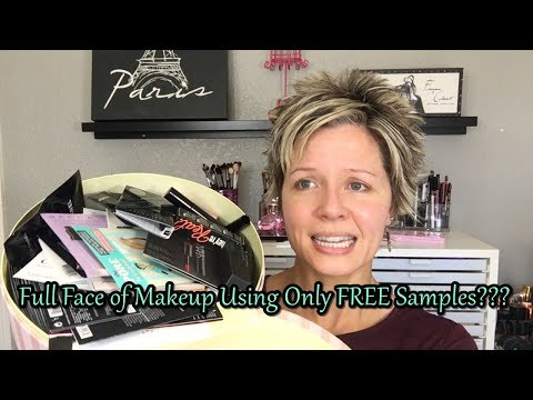 Full Face of Makeup Using Only FREE Samples!