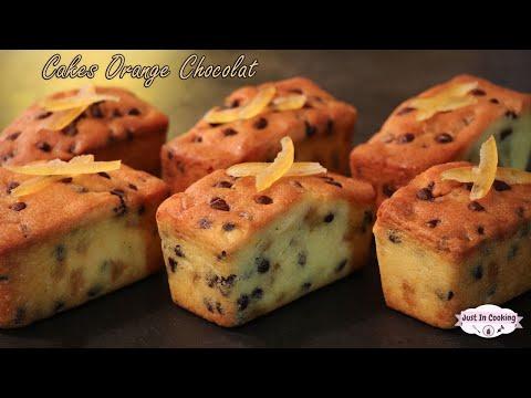 recette-de-cakes-à-l'orange-et-aux-pépites-de-chocolat