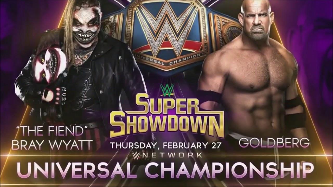 Resultado de imagem para Goldberg bray wyatt wwe super showdown