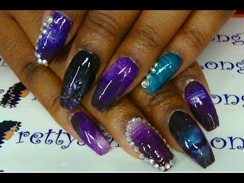 Galaxy Nails - BornPrettyStore Nail Decals