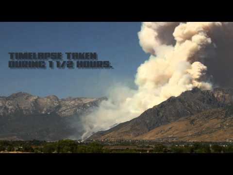 WILDFIRE TIMELAPSE. ALPINE, UTAH  07-03-12