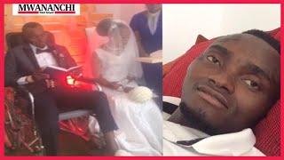 VIDEO: Manusura ajali ya bodaboda afunga ndoa wodini
