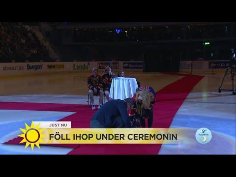 Hockeystjärnan skulle hyllas – föll ihop under ceremonin - Nyhetsmorgon (TV4)