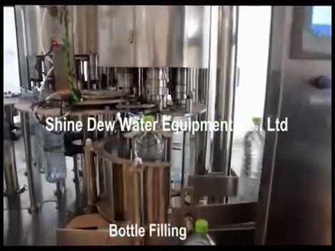 Bottled water production line 6000 bottles per hour