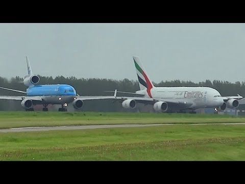 A380  Vs MD-11 At Takeoff Form AMS Schiphol