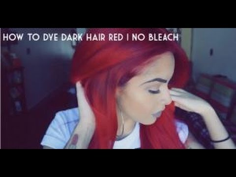 how to get red hair out without bleach