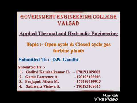Open cycle & colse cycle gas turbine plant