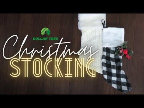 DIY $2 Dollar Tree Buffalo Check Stocking / EASY & CHEAP Stocking DIY