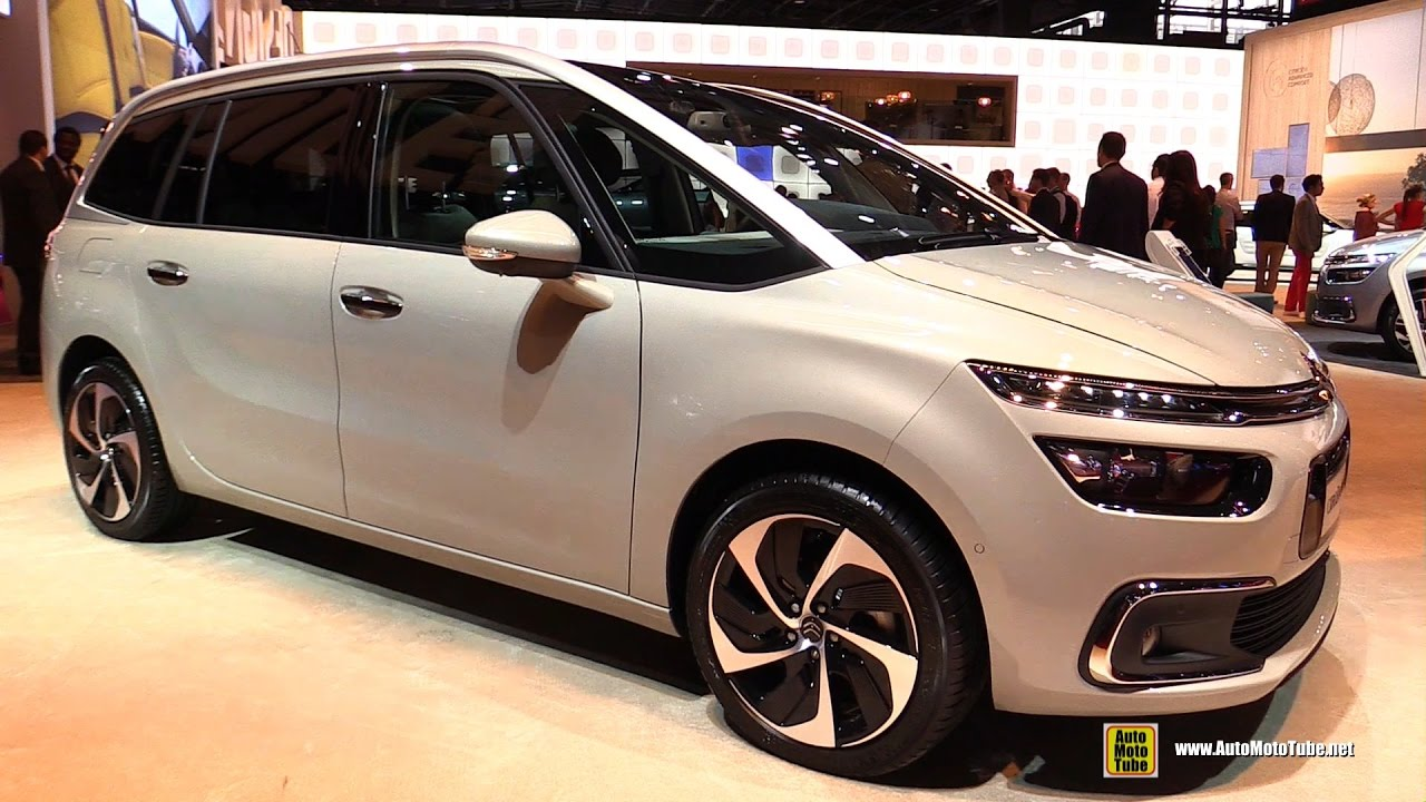 2017 citroen grand c4 picasso exterior and interior walkaround debut at 2016 paris motor. Black Bedroom Furniture Sets. Home Design Ideas