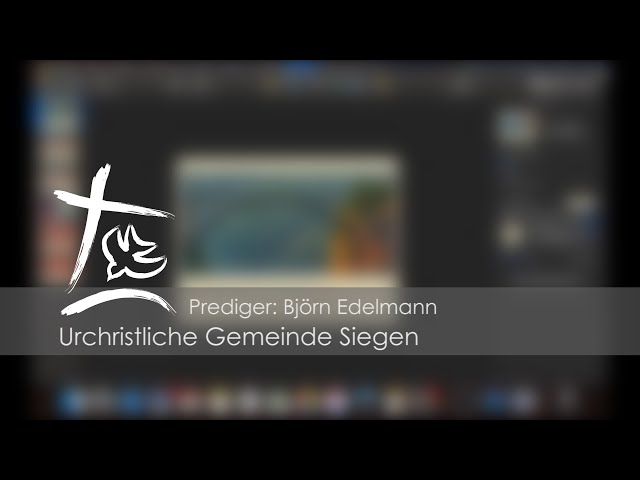 UGS - Video-Predigt vom 22.03.2020 - Björn Edelmann