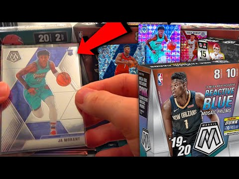 LOOKING FOR JA & ZION RC!!! IRL NBA & NFL Pack Opening! Panini 2020 Mosaic Mega Boxes!