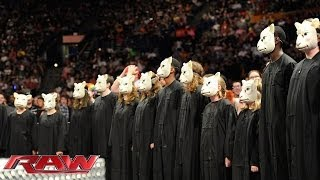 Bray Wyatt and a children's choir serenade John Cena: Raw, April 28, 2014