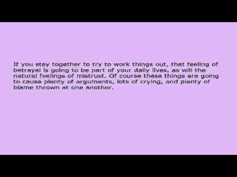 Saving A Relationship After Infidelity - Are You Ready For The Long Road  Ahead? avi