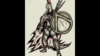 Drawing with Gimpy - Spartan Warrior