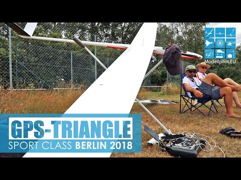 GPS-TRIANGLE BERLIN 2018 starts, flights, landings SPORT CLASS RC SCALE GLIDER COMPETITION