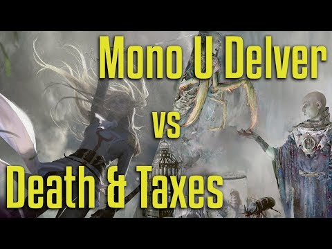 Brainstorm MTG | Legacy Magic: the Gathering | Death & Taxes VS Mono Blue Delver | With Commentary
