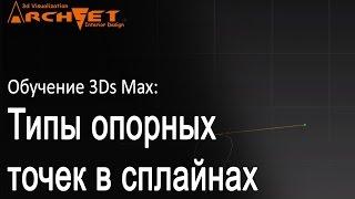 Типы опорных точек в сплайнах (Edit spline 3d max) Опорные точки (Vertex Edit spline 3d max)
